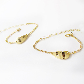 Fancyqube Partners in Crime Small Partner Couple Chain AlloyBracelets Gold Price Philippines