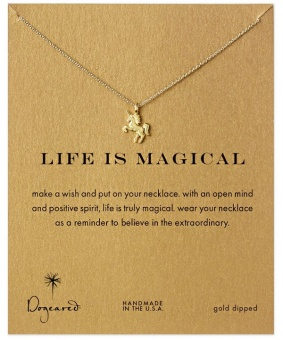 Fantastic Flower New Charm Elegant Lady Fashion Unicorn Pendant Sweater Chain Lucky Necklace - intl