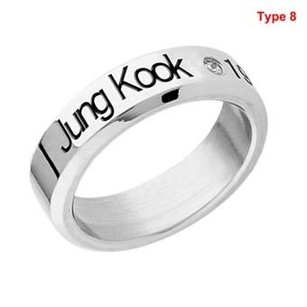 Fashion Bangtan Boys Bts Ring Necklace Stainless Steel Kpop Jung Kook Jin J-Hope Silver - intl
