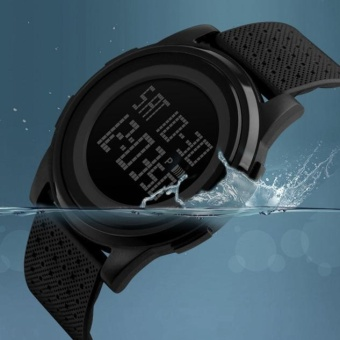 Fashion Black Mens Rubber Band Digital Army Military Quartz Sport Wrist watch - intl
