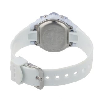 Fashion Children Digital LED Quartz Alarm Date Sports Wrist WatchWhite - 2