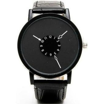 Fashion Clear Dial Leather Strap Analog Watch - Black Price Philippines