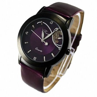 Fashion Lady Girl Women Luxury Diamond Pretty Quartz Wrist Watch(Purple)