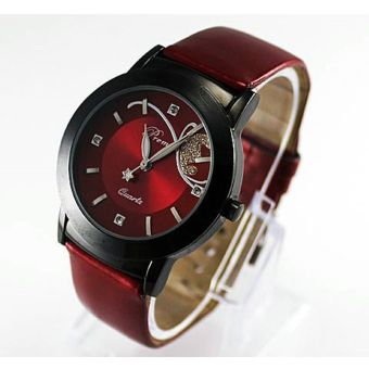 Fashion Lady Girl Women Luxury Diamond Pretty Quartz Wrist WatchRed