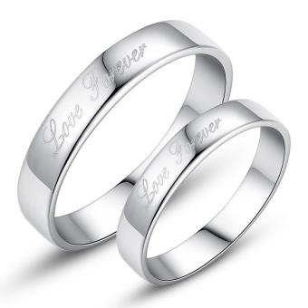 Fashion Lovers Rings Silver Adjustable Couple Ring Jewelry E014 - intl