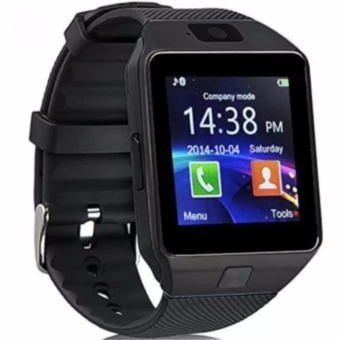 Fashion Man's Smart Watch Bluetooth For Android and IOS With Sim Card Slot(Black)DZ09