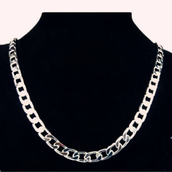 FASHION Men Jewelry 925 Silver Chain Necklace for Men 8MM 20 Inch