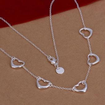 Fashion Necklace Jewelry 925 Sterling Silver Heart Pendant Necklace - intl