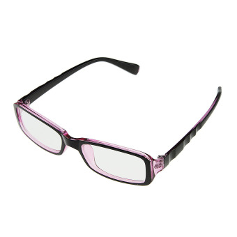 Fashion PC TV Eye Protection Slim Office Secretary Unisex Plastic Frame Arms Clear Rectangle Lens Plain Mirror Nerd Glasses Vision Radiation/Video Computer Glasses Eyeglasses