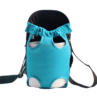 Fashion Pet Dog Doggy Sling Legs Out Design Outdoor Travel DurableNylon Portable Mesh Front Chest Pack Carrier Backpack Shoulder BagFor Dogs Cats Puppy Carriers Pet Holder(Blue,L) - 2