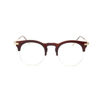 Fashion Vintage Retro Cat Eye Glasses Brown Frame Glasses Plain for Myopia Women Eyeglasses Optical Frame Glasses Oculos Femininos Gafas - Intl - 2