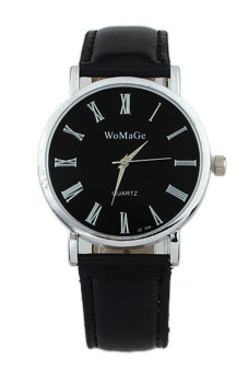 Fashion Women's Black Classic Leather Strap Watch