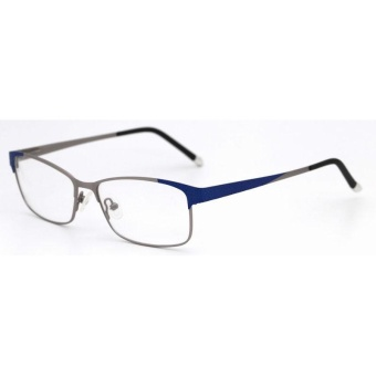 Feelz Optical Myopia Frame Metal Glasses Fashion Alloy SpectacleEyewear Retro Full Rim Eyeglasses for Men and Women (Blue) - intl Price Philippines