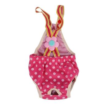 Female Pet Diaper Menstrual Suspender Reusable Pants Rose XL - intl