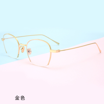 Female plain radiation protected with glasses Frame