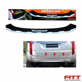 Fitt Rear Bumper Guard Chrome/Black (4 Pcs/Set) 38-053 ForMitsubishi Montero Sport 2016