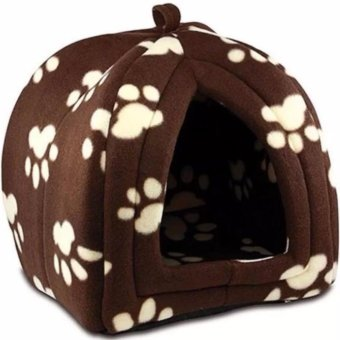 Fleece Pet Hut Brown