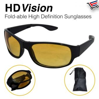 Fold-able HD Vision Night and Day High Definition Sunglasses/Eye wear - 4