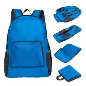 Foldable Backpack Foldable Travel Backpack Luggage Organizer As Seen On TV Travel Bag (Blue) - 3