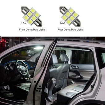 For Honda CRV 2007-2009 Convenience Bulbs Car Led Interior Light C10W W5W Replacement Bulbs Dome Map Lamp Light Bright White 4 PCS Per Set - intl