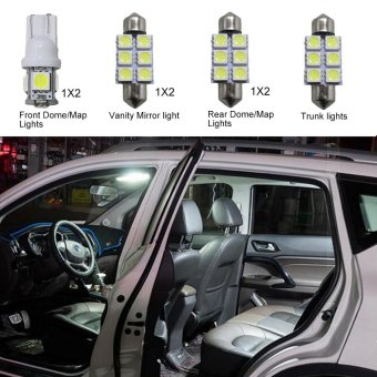 For Hyundai Tucson Convenience Bulbs Car Led Interior Light C10WW5W Replacement Bulbs Dome Map Lamp Light Bright White 7 PCS PerSet - intl