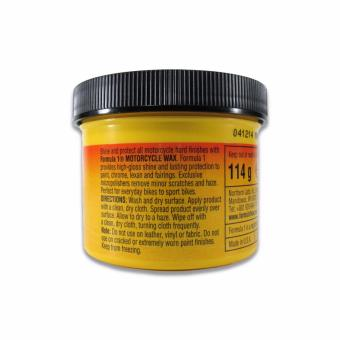 Formula-1 Motorcycle Wax 4 oz. For Paint & Chrome Paste WithApplicator Inside - 2