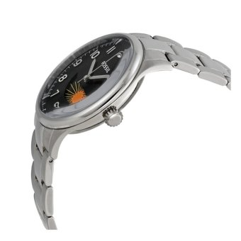 FOSSIL Agent with Day/Night indicator Men's Black/Silver Stainless Steel Bracelet Watch FS4848 - 2