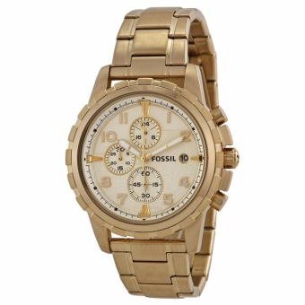 Fossil FS4867 Dean Chronograph Champagne Dial Gold-tone Men's Watch Price Philippines