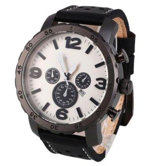 Ybc Men Sports Leather Automatic Mechanical Analog Wrist Watch Coffee Intl - Daftar Update Harga Terbaru Indonesia
