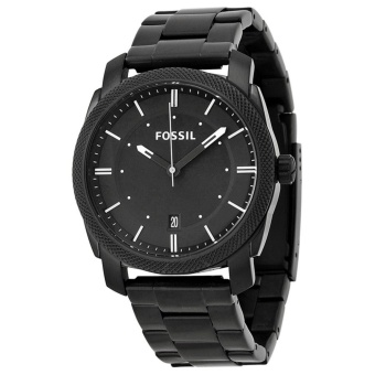 Fossil Machine FS4775 Black Dial Black-Plated Stainless Steel Men's Watch