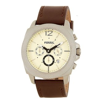 Fossil Privateer Men's Brown Leather Strap Watch BQ1732