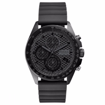 Fossil Sport 54 Chronograph Black Dial Black Rubber Strap Men's Watch CH3080