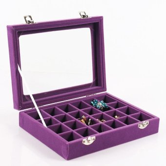 (Free Spot Watch) 24 Grids Watch Box Earrings Rings Bracelet Necklace Jewelry Watches Display Storage Box Makeup Organizer Boxes as Gifts