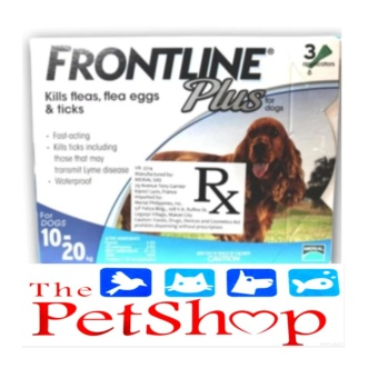 Frontline Plus Flea & Tick Dogs 10 To 20kg (3 Pipet/Box)