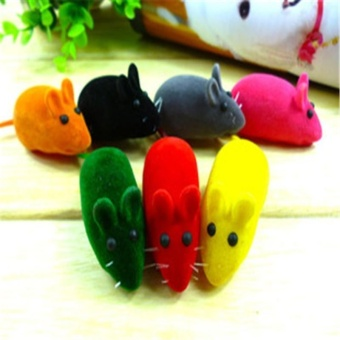 Funny Lifelike Play Pet Dog Cat Toy Flocking Rat Mouse Play SoundMice Quality - intl Price Philippines