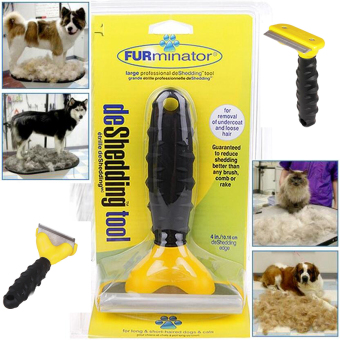 Furminator deshedding brush tool for dog / cat (Random Color)