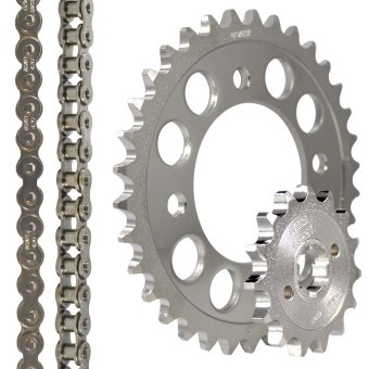 Fury125R (6 Holes) 14-34X420X110 Osaki Revo Chain Set (Chrome) - picture 2