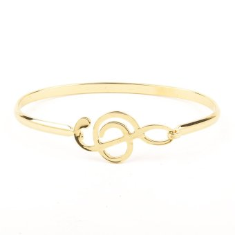 G-clef Dainty Stainless Steel Bangle - Gold