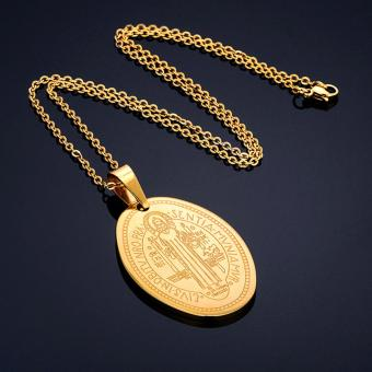 G@Best Saint Benedict Necklace & Pendant - Gold