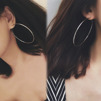 GD European and American celebrity inspired style large ear ring circle earrings