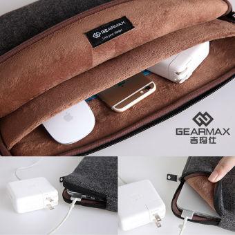 GEARMAX/WIWU Felt Shockproof Laptop Bag Sleeve 15.6 inch Black - intl - 5