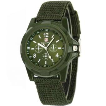 GEMIUS ARMY Military Sport Style Army Men's Green Canvas StrapWatch