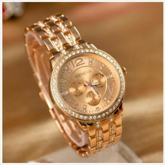 Geneva 299 Macey Women's Rose Gold Stainless Steel Strap Watch