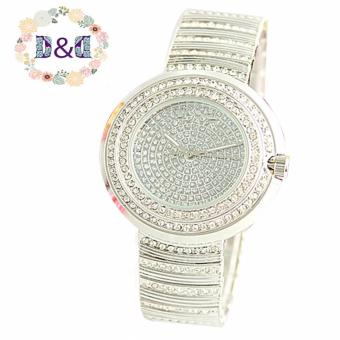 Geneva 6066 Diamond Women Fashion Steel-belt Quartz Watch