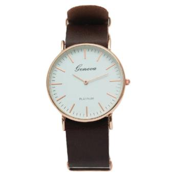 Geneva Brown Classic Euphy Wrist Watch
