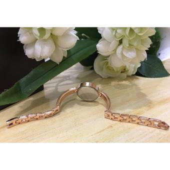Geneva Claire Fashion Ladies Casual Bracelet Quarts Wrist Watch Buy1 Take 1 (Pink/Violet) - 4