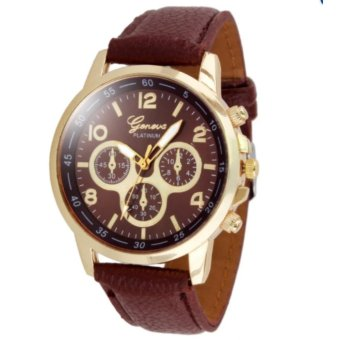 Geneva Cs001 Fashion Ladies Wrist Watch (Brown)