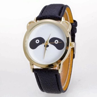 Geneva Cutie Panda Bear Wrist Watch (Black)