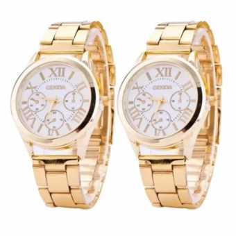 Geneva Gold/White Roman Numerals Wrist Watch Buy 1 Take 1