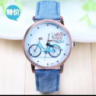 Geneva I Want to Ride my Bike Watch (Blue)